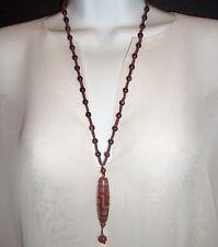 Antique Chinese Oriental Design TIBETAN DEZI EYE Carnelian Pendant Necklace old