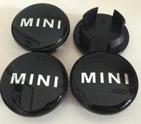 4 x 54mm Mini Cooper MINI Wort Schwarz Nabenkappen Felgendeckel Allufelge Satz