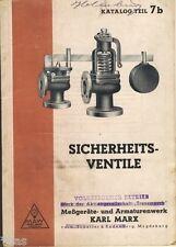 VEB Meßgeräte und Armaturenwerk Magdeburg Katalog Sicherheits Ventile 1952