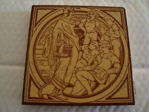 Minton Moyr Smith Six Swans Tile    19/90