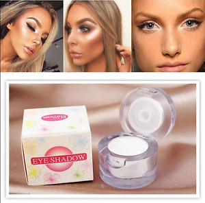 Highlighter Makeup 2in1 Contour Palette Eye Loose Powder Glitter Gold Eyeshadow