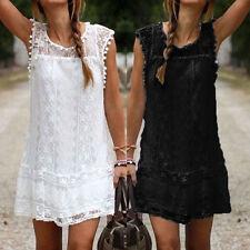 Women Celeb Summer Boho Beach Sun Dress Kaftan Mini Playsuit Ladies Jumpsuit White XL