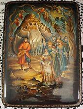 Rare Russian Lacquer Fedoskino Box Neptune His Daughters and Kingdom MOP 1998