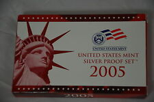 2005 05 United State Mint 11 Coin Silver Proof Set V50