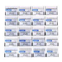 AZDENT Dental Super Coarse Diamond Burs Drills 20 Types for High Speed Handpiece