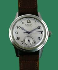 UNUSUAL Vintage 40's Gruen TWO SECOND HANDS Bumper Automatic Military Watch