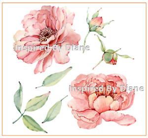 Furniture & Wall clear STICKER / Cut & Stick / Furniture Decal / Flowers 0027