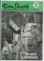 Tom Shark der König der Detektive Nr.41 von 1951 - ORIGINAL KRIMINAL ROMANHEFT
