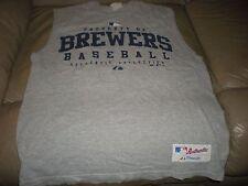 Milwaukee Brewers Mens Shirt Size Medium Majestic Sleeveless Mans Clothes MLB