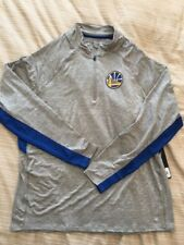 Golden State Warriors 1/4 Zip Pullover Forward Evolve Large New Gray Not Nike
