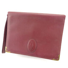 Cartier Clutch bag Mastline Red Gold Woman unisex Authentic Used T809
