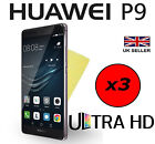3x HQ CRYSTAL CLEAR SCREEN PROTECTOR HD COVER SAVER FILM GUARD FOR HUAWEI P9