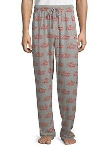 Disney Lounge Pants Pixar Toy Story Pizza Planet Men Women Pjs Pajama Gray Red M