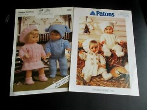 2 Knitting Patterns for Doll Clothes