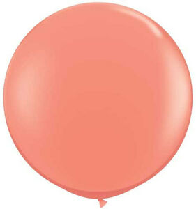 """Qualatex 36"""" Coral Large Round Balloon Wedding Party Decor prop"""