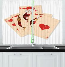 "Alice in Wonderland Kitchen Curtains 2 Panel Set Window Drapes 55"" X 39"""