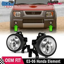 For Honda Element 03-06 Factory Replacement Fog Lights Wiring Kit Clear Lens