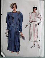 Vintage 80s Very Easy VOGUE sewing pattern 9156 women's dress 12 14 16 M L UNCUT