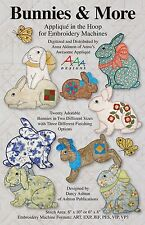 BUNNIES & MORE PATTERN ON USB, Machine Embroidery From Anna's Awesome Applique