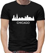 Chicago Silhouette Mens T-Shirt - City - Skyline - Lake Michigan - Illinois