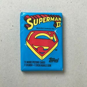 1 Pack Superman 2 Trading card Topps 1981 Vintage