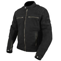 ARMR Moto Nubakku Classic Black Nubuck Leather Motorcycle Motorbike Jacket