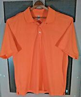Bolle Golf Tech polo Golf shirt men's XL  Orange short sleeve