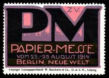 Germany Poster Stamp - 1914, Berlin - Papier-Messe - Paper Trade Show