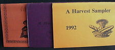 A Harvest Sampler, 3 Booklets, Mt. Pleasant, Iowa, '90,'91,'92, Xi Epsilon Delta