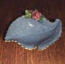 Precious Collectable Royal Worcester Dish Blue With Flowers Fine Gilding 1936