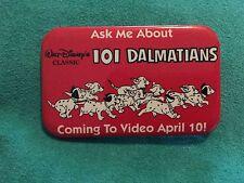 101 Dalmatians Htf Walt Disney's Rectangular Flatback Pin 2 1/2 Inch Puppies