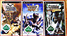 SONY PSP 4 MONSTER HUNTER GAMES + EXTRA : MUNSTER HUNTER 1 + 2 + UNIT + 2 G
