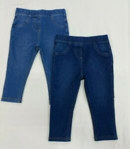 NEW Girls NEXT Jeggings Leggings Jeans Babys Soft Cotton Stretch Skinny Trousers