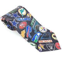 Surrey NFL Logos 1994 Vintage Mens Tie Football Sports Teams AFC NFC