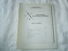 john deere a b d 520 tractor electrical 720 820 wiring diagrams service  manual