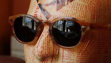Vintage Summer Womens Mens Retro polarized sunglasses blonde G15 green lens