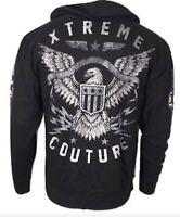 Xtreme Couture Men ZIP Hoodie Sweat Shirt Jacket BRAVENET ZIP HOOD Biker UFC $78