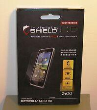HD Screen Protector for Motorola ATRIX HD ZAGG InvisibleShield  NEW