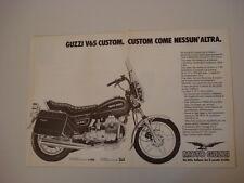 advertising Pubblicità 1983 MOTO GUZZI V65 V 65 C CUSTOM