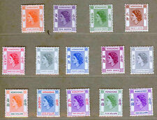 Hong Kong 1954 Queen Elizabeth II Definitive Stamps Set - MNH