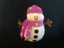 THE CUDDLE CREW LARGE SOFT SNOWMAN TOY PLUSH COMFORTER EX CONDITION RARE