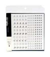 American Crafts Remarks Small Alphabet Sticker Book, Hannah and Henry Black