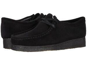 Men's Shoes Clarks Originals WALLABEE Lace Up Suede Moccasins 55519 BLACK