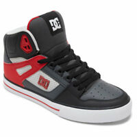 DC Shoes Men's Pure SE Hi Top Sneaker Shoes Gray/Red (GRF) Footwear Skateboar...