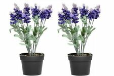 Faux Silk Potted Lavender Dried & Artificial Flowers