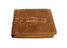 Montana West Men's Wallet Genuine Leather Western Croc Bi-Fold Cowboy Wallet