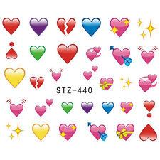 Accessoire ongles nail art , Stickers décalcomanie, motifs Saint Valentin coeurs