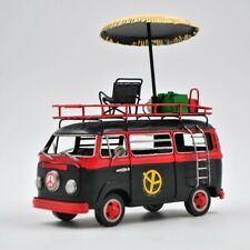 JAYLAND LARGE SCALE TIN PLATE VW SAMBA BUS WITH UMBRELLA HOME OFFICE DECOR DEAL