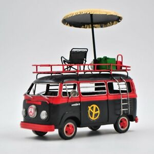 Jayland Black & Red Two Tone Classic VW Decorative Bus 1/24 Diecast Microbus NR