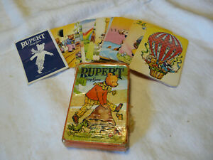 Vintage Rupert the Bear Pepys Card Game with Instructions